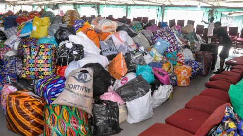 Church members donate gifts for IDP camps